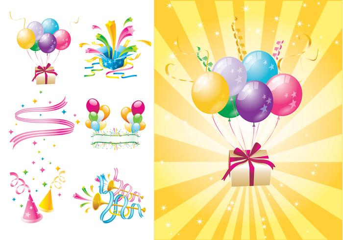 Party Time Vector and Wallpaper Pack Two