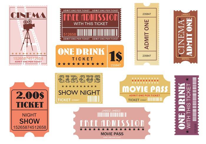 Film en evenement tickets vector pakket