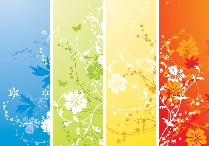 Pacote de papel de parede Vector Four Seasons