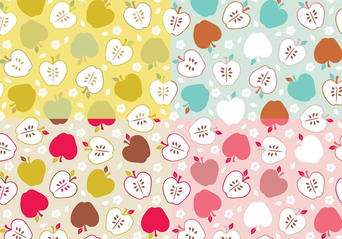 Apple Vector Pattern Pack