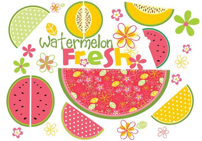 Fresh Watermelon Vector Pack