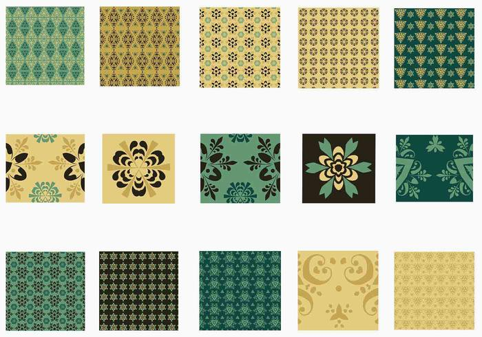 Emerald and Gold Vector Pattern Pack