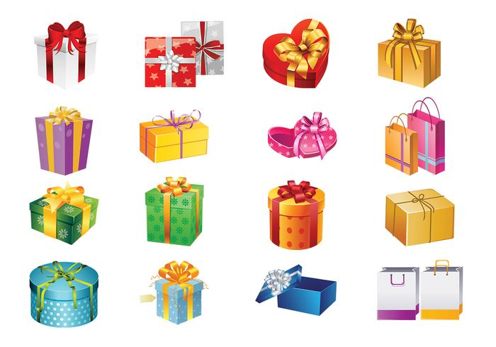 Gift Boxes and Bags Vector Set