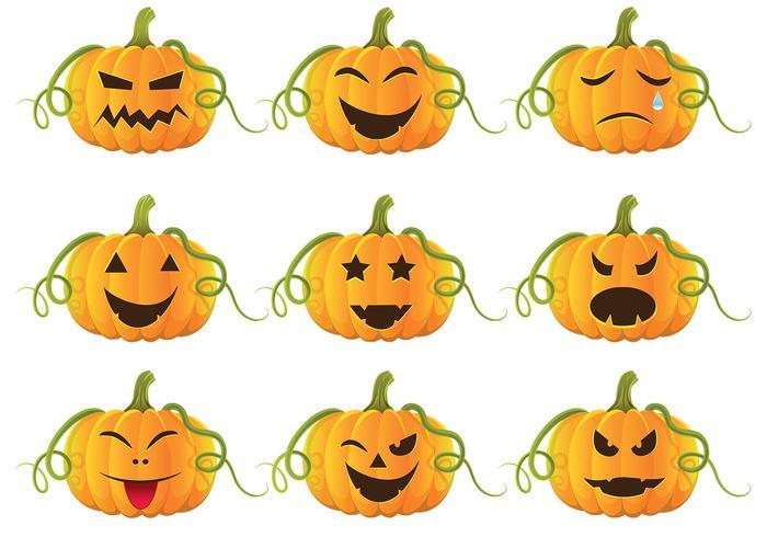 halloween pumpkins vector pack - download free vector art, stock