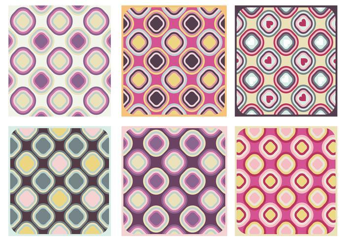 Pack de motifs rétro vectoriel