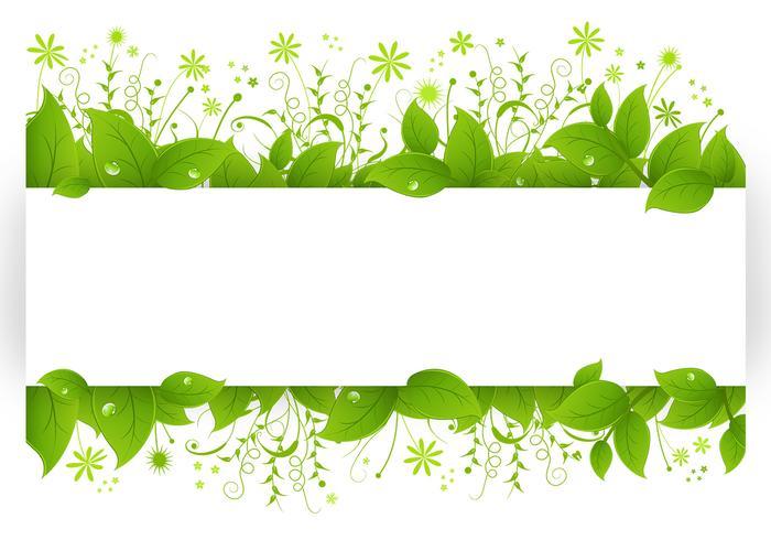Leafy Banner Vector Pack