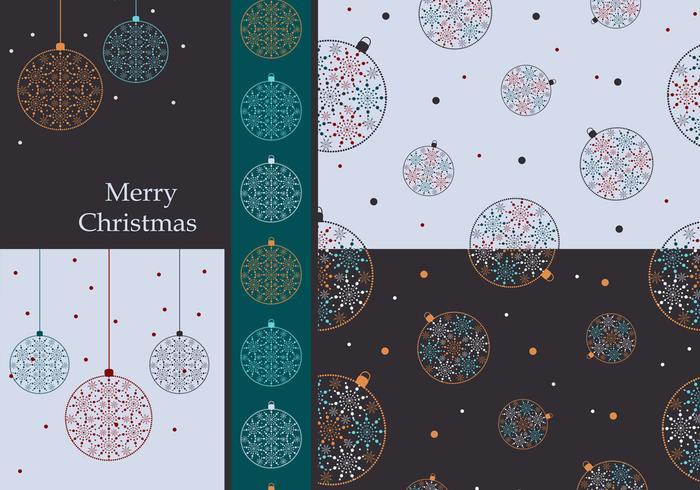 Färgglada julgransprydnader Vector Wallpaper Pack