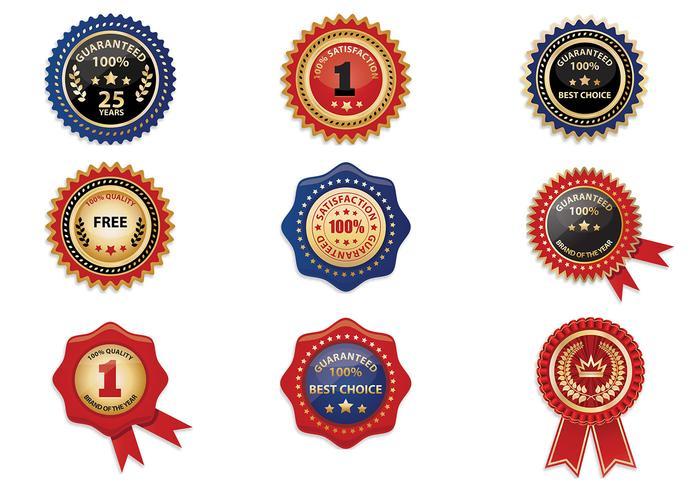 Ribbon Badge Vector Pack