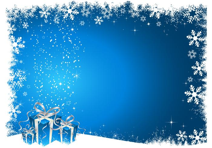 Blue Christmas Background Vector