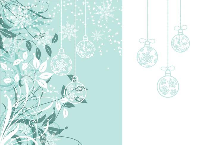 Fond d'écran floral et fond de panier de Noël