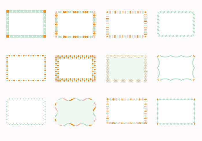 Funky Square Frames Vectors