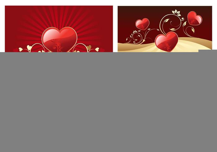 Valentine's Day Hearts Wallpaper Vector Pack
