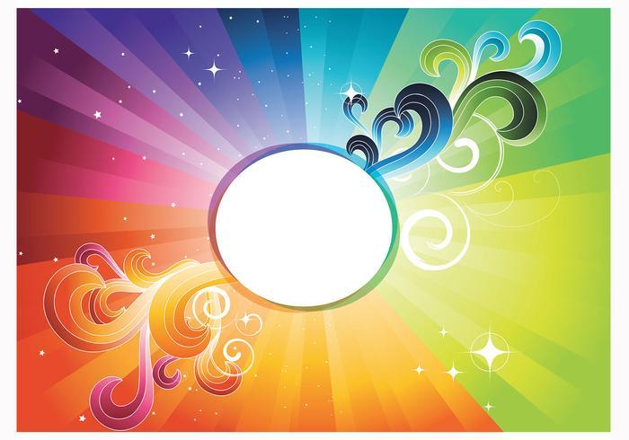 Rainbow Abstract Wallpaper Vector