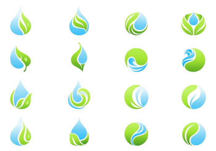 Water Icon Vector Pack - Environmental Icons