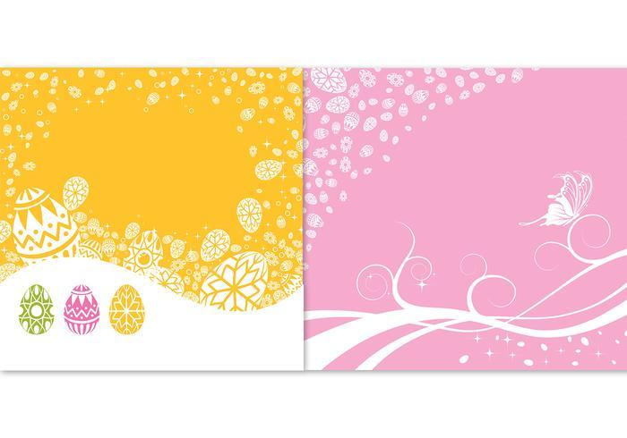 Paquet vectoriel de fond de Pâques