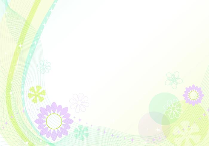 Waves and Flower Wallpaper Vector