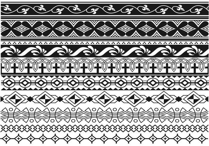 Art Deco Border Vector Pack Two