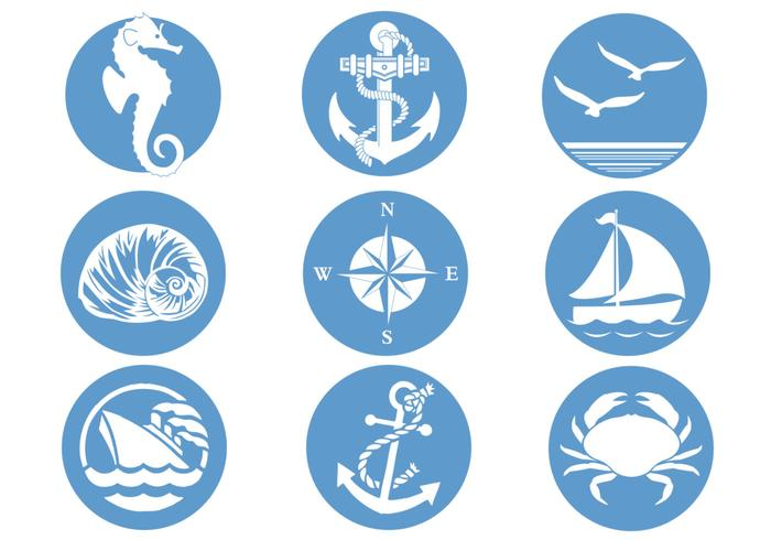 Nautische Symbolen Vector Pack