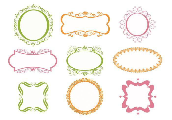 Glasses Frame Vector : Ornate Frames Vectors Pack - Download Free Vector Art ...