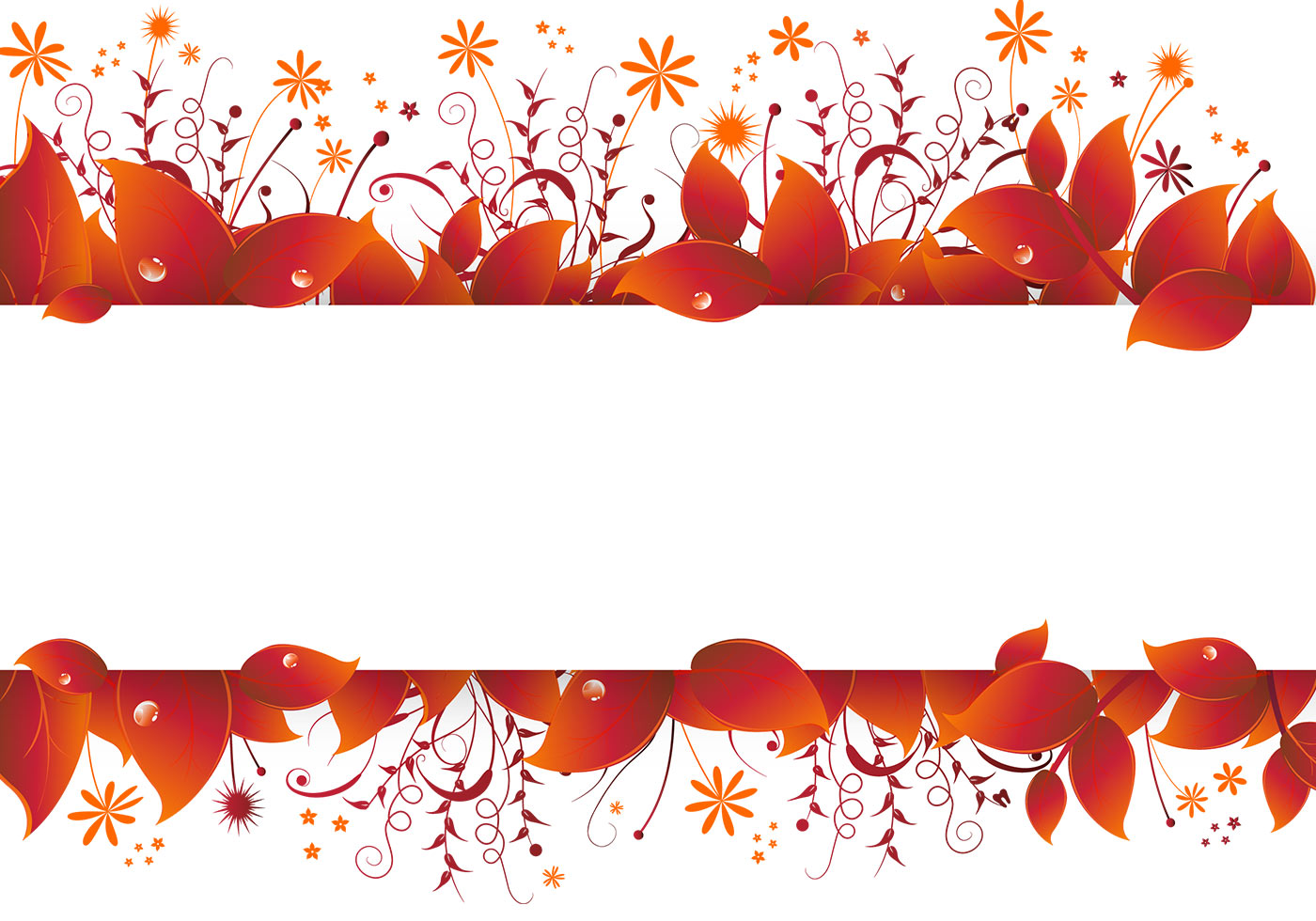 Autumn Leaves Banner Vector - Download Free Vector Art ...