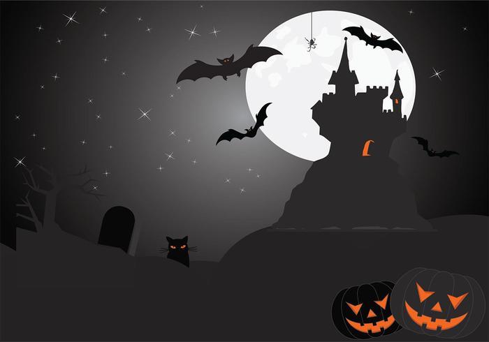 Eerie Halloween Vector Wallpaper