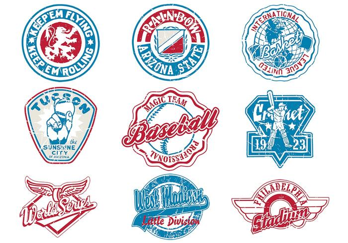 Grungy Sports Vector Logo Pack