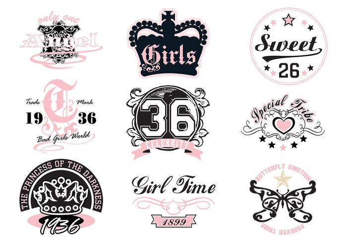 Girly T-shirt Vector Designs