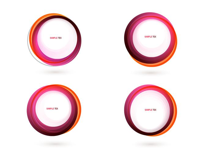 Pink Circle Banner Vector Pack