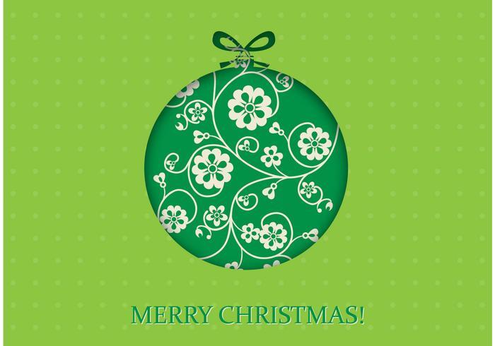 Green Christmas Vector Wallpaper