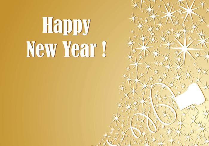 Gold Champagne New Year Vector Wallpaper