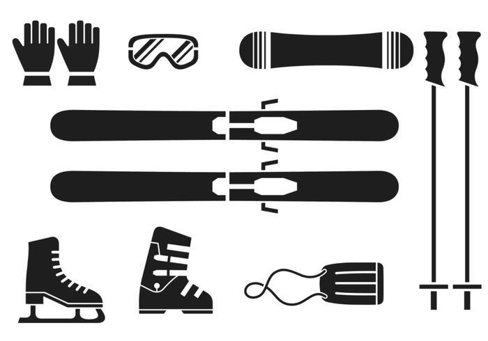 Pacote de vetores esportivos de inverno