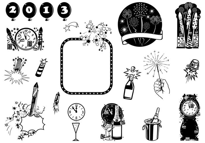 New Year's Eve Vector Element Pack