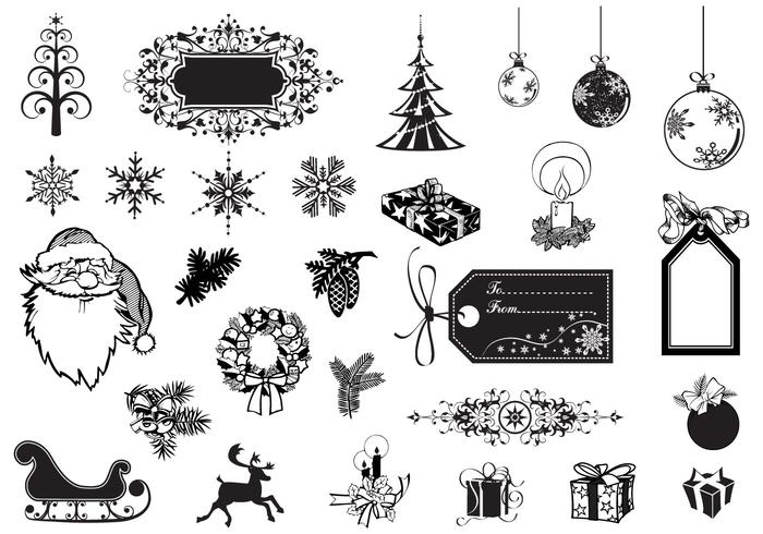 Holiday and Christmas Vector Pack