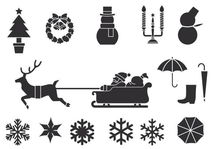 Winter and Christmas Brush Pack