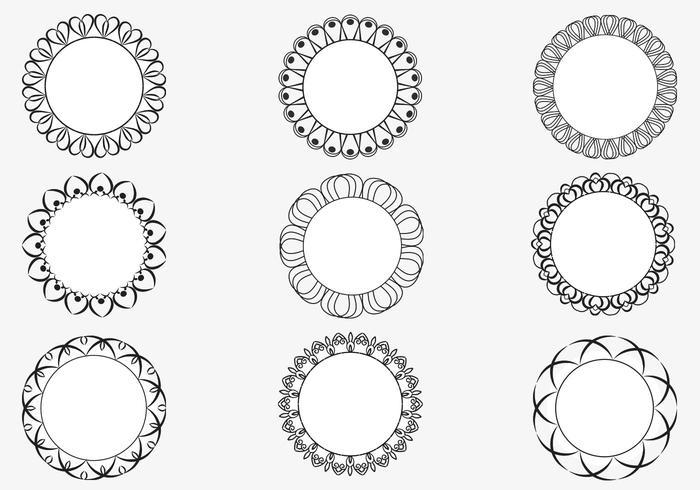 Decorative Circular Frame Vector Pack