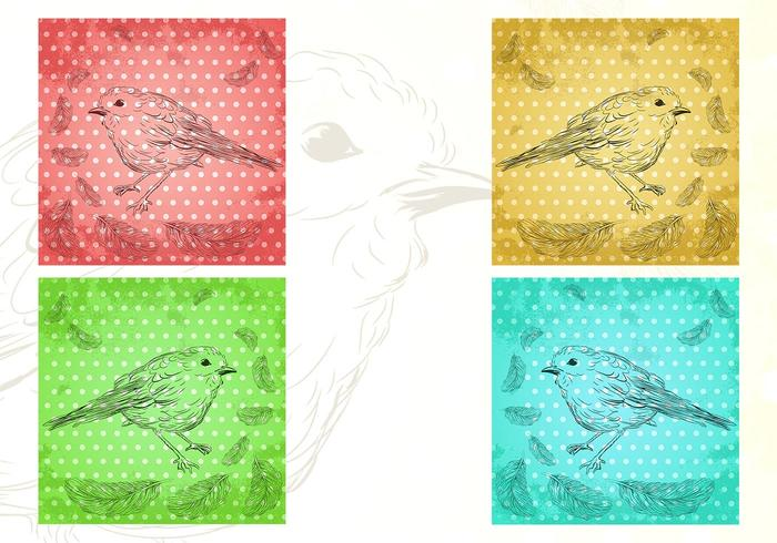 Birds of a Feather Vector Wallpaper Pack