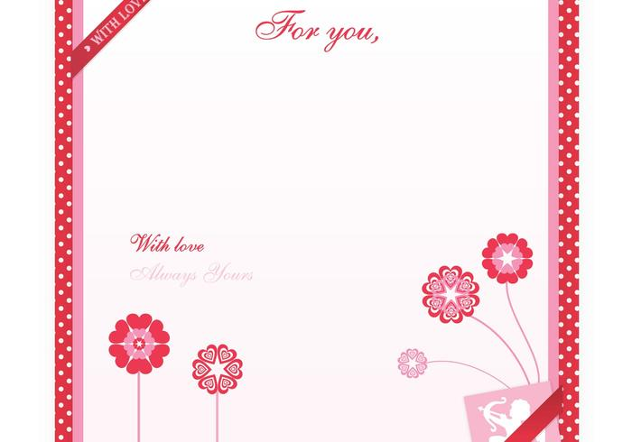 Valentine's Day Love Letter Vector Wallpaper