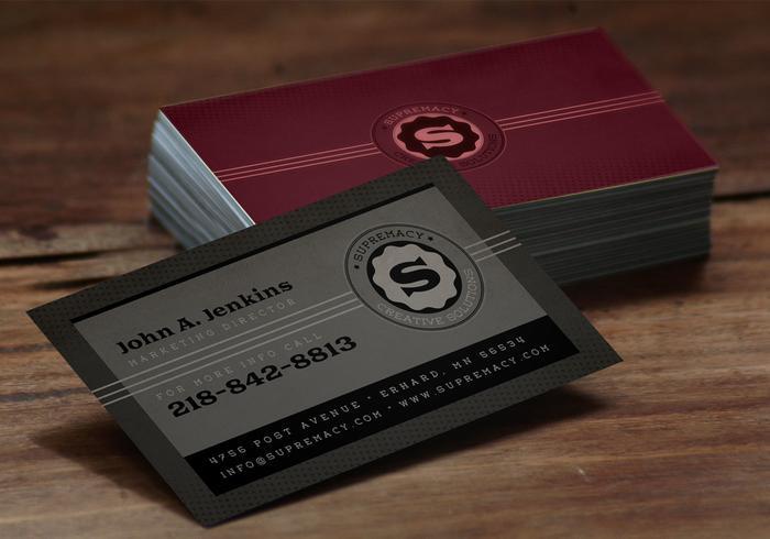 Modern Grey Business Card Vector Template Pack