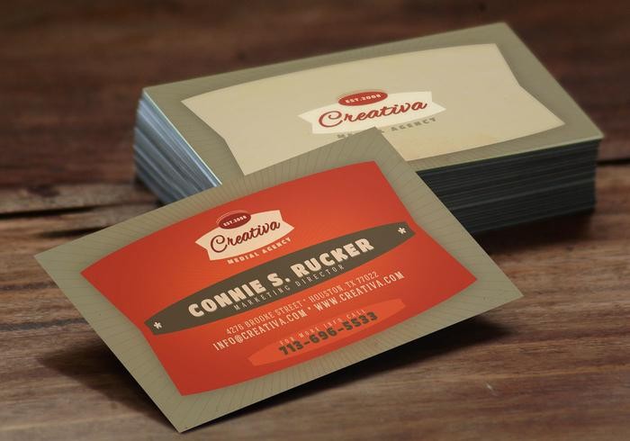 Bold Red Business Card Template Vector Pack