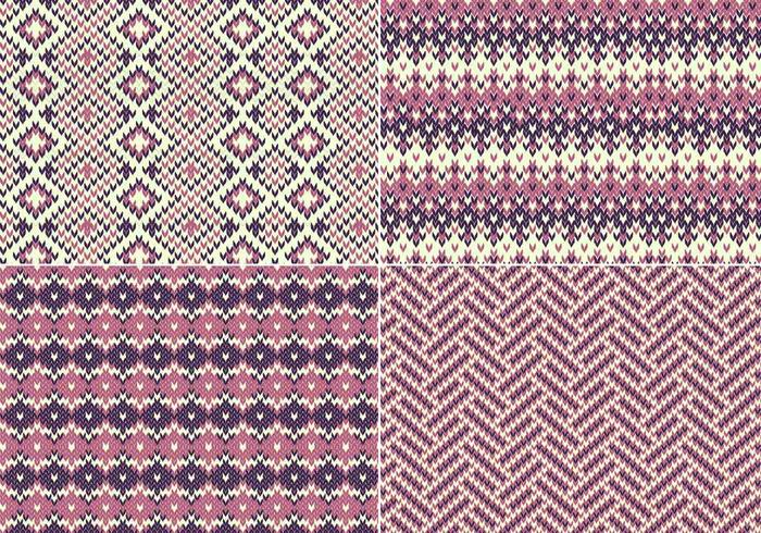 Knitting Pattern Vector Download : Knitted Vector Pattern Pack - Download Free Vector Art ...