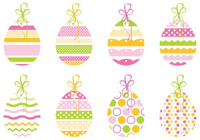 Decorative Easter Egg Tag Vector Pack - Download Free Vector Art ...