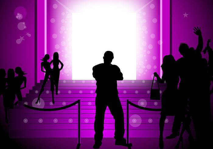 Glowing Purple Party Vector Background