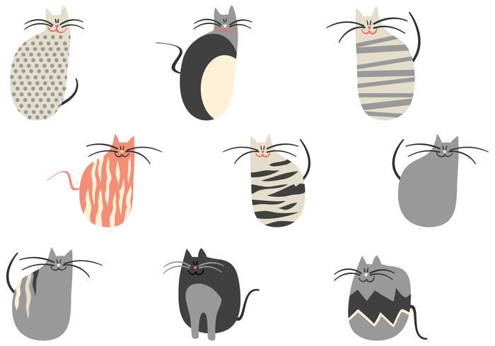 Cartoon Cats Vector Pack
