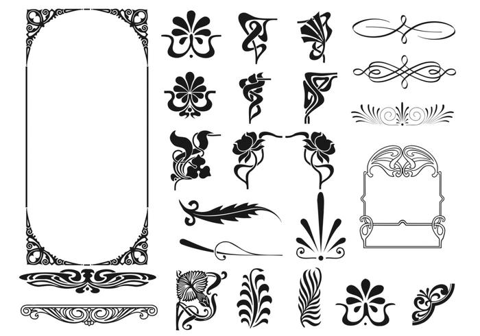 Art Deco Frame and Corner Vector Pack