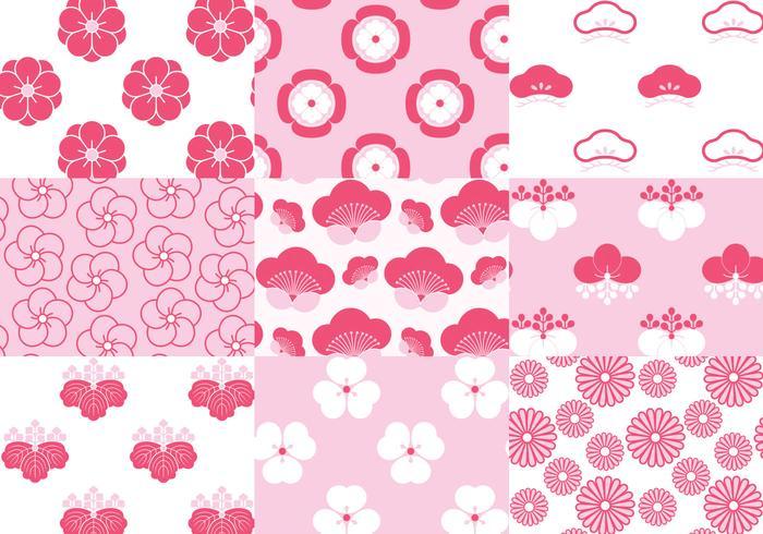 Japanese Blossom Floral Pattern Vector Pack - Download ...