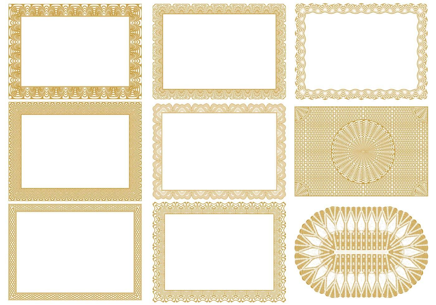 Certificate border vectors pack download free vector art stock graphics images for Certificate border vector