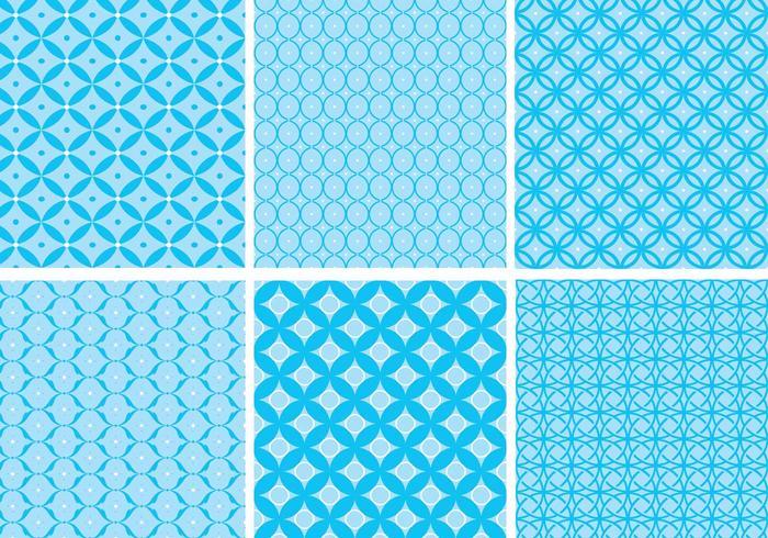 Circular, azul, patrón, vector, paquete