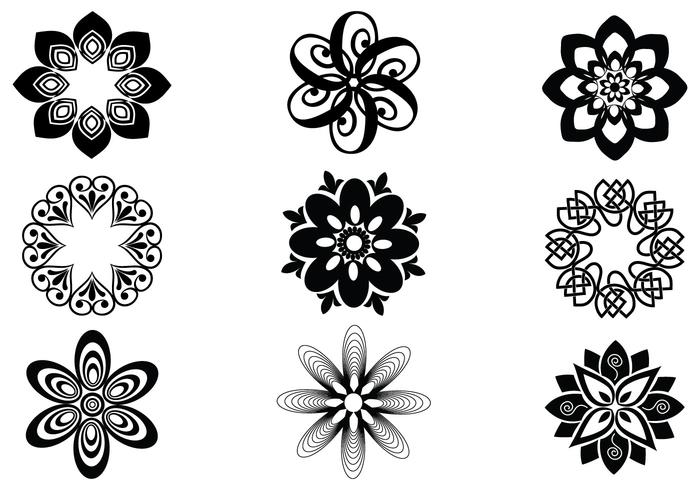 Abstract Bloemen Vector Elementen Pak