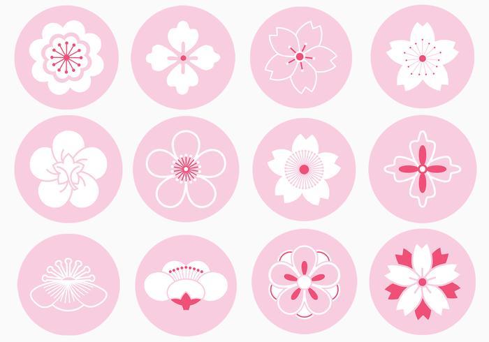 Japanese Flower Ornament Vector Pack