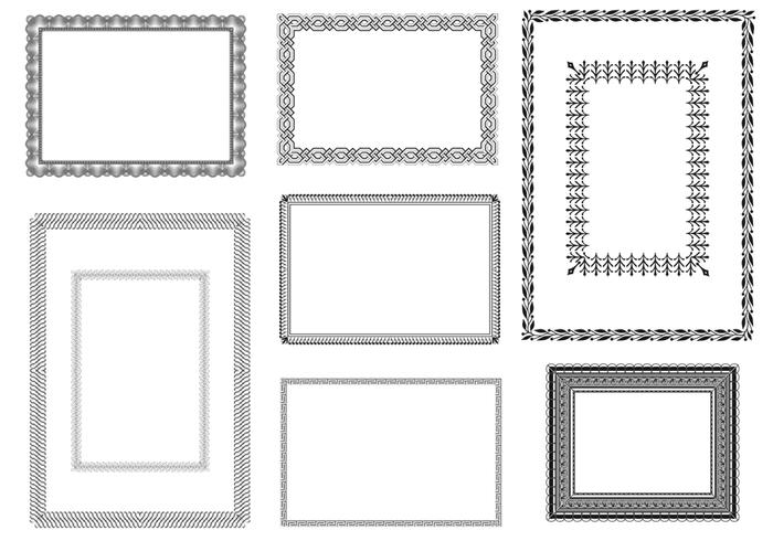 Certificate Vector Frames Pack